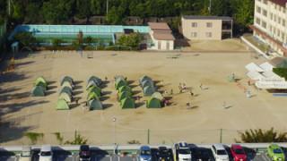 秋!!学校でキャンプ!
