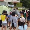 今年も盛況な学校でキャンプ
