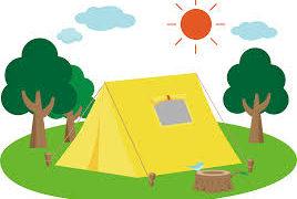 学校でキャンプが行われます